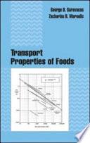Transport Properties of Foods Book