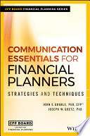 Communication Essentials for Financial Planners Book