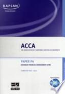 ACCA Paper P4, Advanced Financial Management
