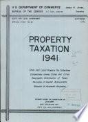 Property Taxation 1941