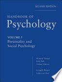 Handbook of Psychology  Personality and Social Psychology Book