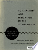 Soil Salinity and Irrigation in the Soviet Union