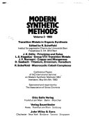 Transition Metals in Organic Synthesis