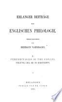 Erlanger beiträge zur englischen philologie und vergleichenden Litteraturgeschichte