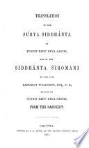 Translation Of The Surya Siddh Nta