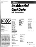 Residential Cost Data 2005