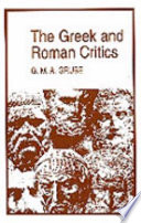 Read Online The Greek and Roman Critics For Free