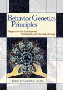 Behavior Genetics Principles