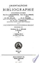 Orientalische bibliographie...