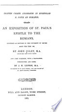An Exposition Of St Paul S Epistle To The Romans
