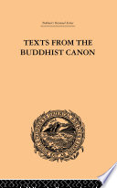 Texts From The Buddhist Canon Book PDF