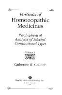 Portraits of Homoeopathic Medicines Book