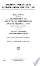 Treasury Department Appropriation Bill for 1950