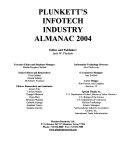 Plunkett S Infotech Industry Almanac 2004