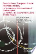 Boundaries of European Private International Law