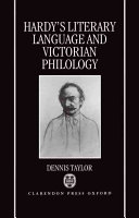 Hardy s Literary Language and Victorian Philology