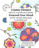 Cosmic Flowers Adult Coloring Book