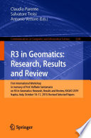 R3 in Geomatics: Research, Results and Review