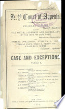 New York Court of Appeals  Records and Briefs