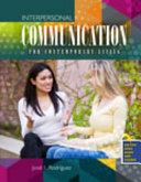 Interpersonal Communication for Contemporary Living Book
