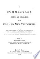A Commentary  Critical and Explanatory  on the Old and New Testaments Book