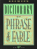 Brewer s Dictionary of Phrase   Fable