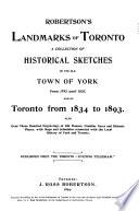 Robertson s Landmarks of Toronto Book PDF