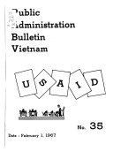 Public Administration Bulletin Vietnam