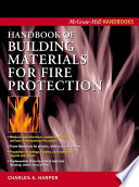 Handbook Of Building Materials For Fire Protection Book PDF
