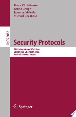 Download Security Protocols Free Books - E-BOOK ONLINE