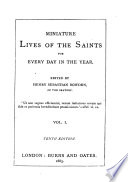 Miniatures Lives of the Saints  for Every Day in the Year Book PDF