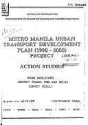 Metro Manila Urban Transport Development Plan  1990 2000  Project
