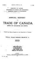Trade of Canada  imports for Consumption and Exports