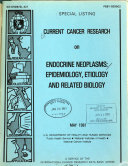 Current Cancer Research on Endocrine Neoplasms