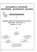 Proceedings of the Regular Meeting