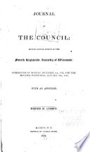Journal Of The Council Annual Session Of The Legislative Assembly Of Wisconsin