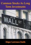 Common Stocks As Long Term Investments [Pdf/ePub] eBook
