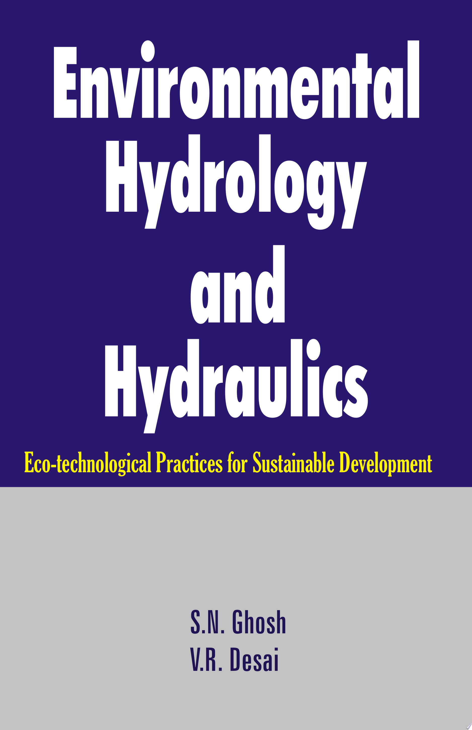 Environmental Hydrology and Hydraulics