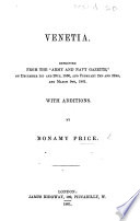 Venetia  Reprinted from the    Army and Navy Gazette     of December 1st and 29th  1860  and February 2nd and 23rd  and March 9th 1861 Book PDF