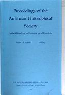 Proceedings, American Philosophical Society (vol. 135, No. 2, 1991)