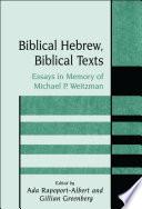 Biblical Hebrew, Biblical Texts