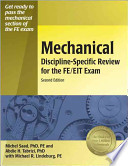 Mechanical Discipline-specific Review for the FE/EIT Exam