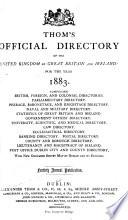 Thom S Directory Of Ireland