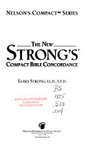 The New Strong s Compact Bible Concordance Book