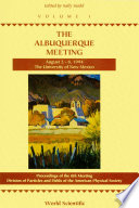Albuquerque Meeting   Proceedings Of The 8th Meeting Division Of Particles And Fields Of The American Physical Society  In 2 Volumes