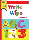 Write and Wipe ABC 123 for Kids Old 2 Year