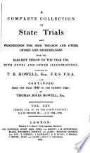 Cobbett s Complete Collection of State Trials and Proceedings for High Treason Book