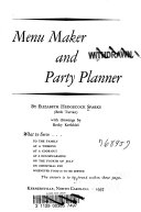 Menu Maker and Party Planner