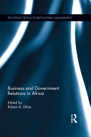 Business and Government Relations in Africa Pdf/ePub eBook