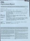 FDA Enforcement Report